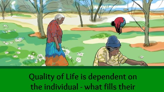 The concept of quality of life is unique to each individual