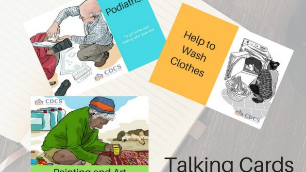 Using visual prompts can assist to ground the conversation. Encouraging people to look at the services or items required rather than becoming distracted by the dollar signs.