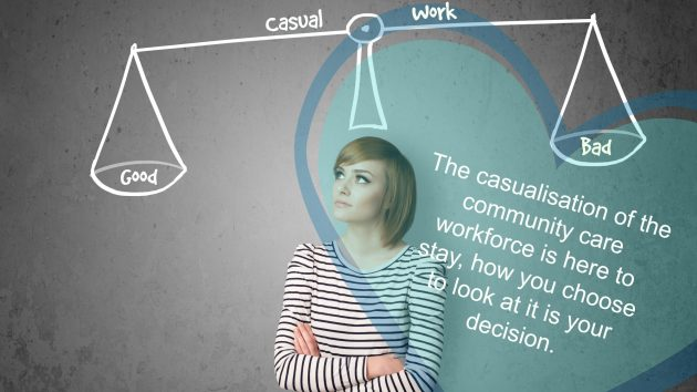 A casual labour force, is this good or bad? It really depends on how you look at it, whether you want or need the security of a permanent position or the flexibility offered by casual work.