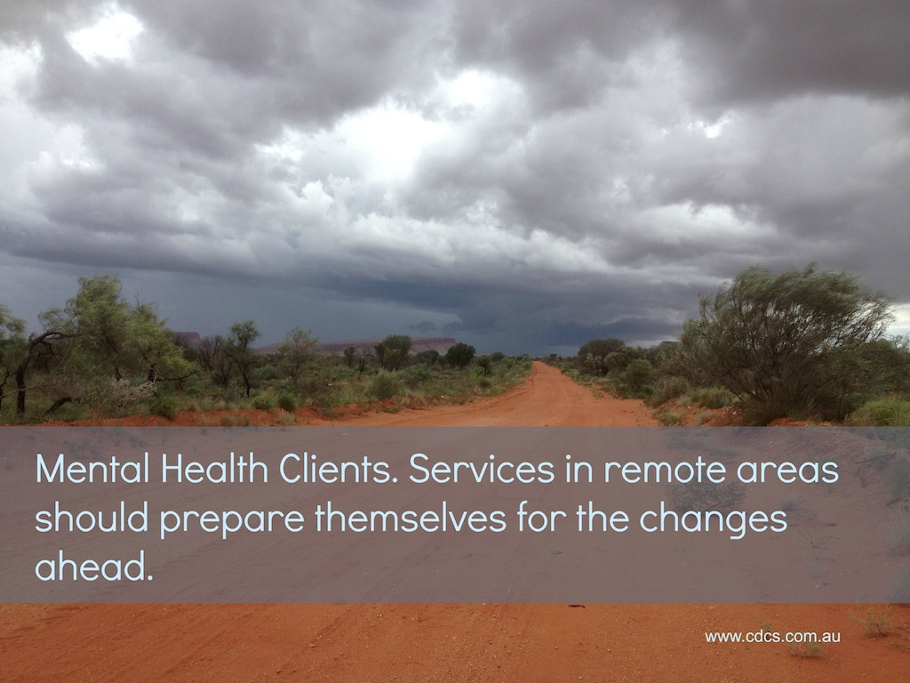 Services need to make sure they are prepared for all the changes ahead. Clients with a diagnosis of mental health condition may not be eligible to continue receiving support through funded aged or disability programs.