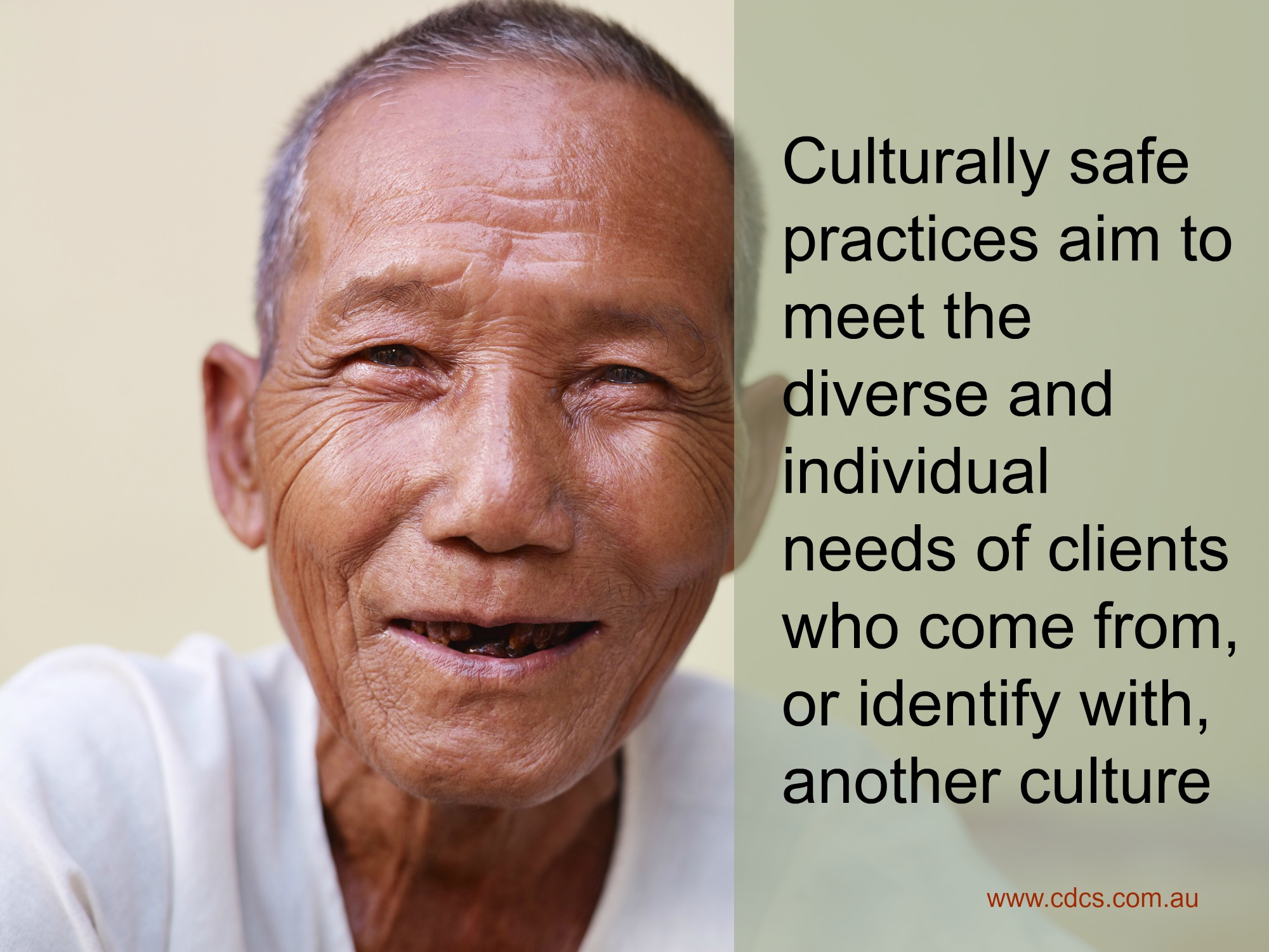 culturally safe practices aim to meet the diverse and individualised needs of clients who come from, or identify with, another culture