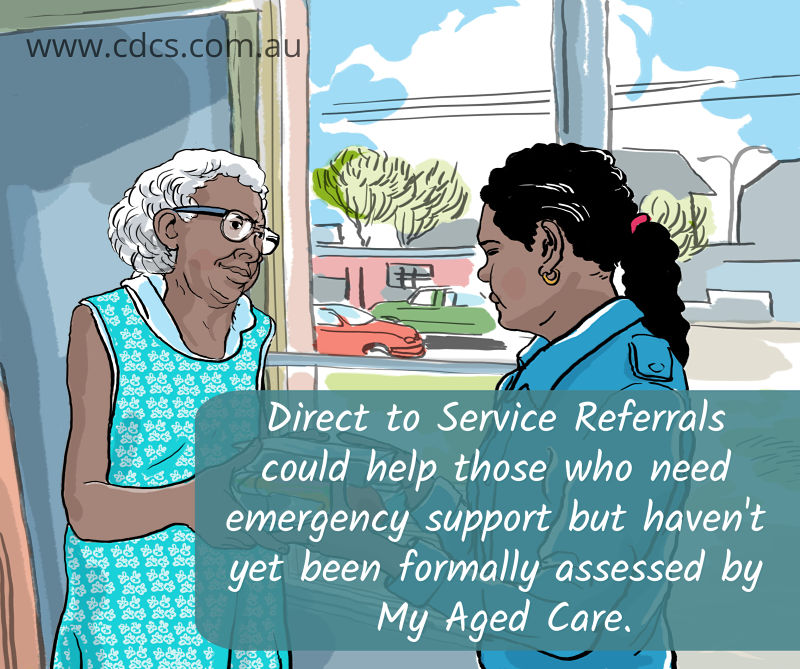 Direct to Service Referral for Clients in Need of Immediate Support