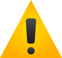 warning sign, yellow triangle with an exclamation point